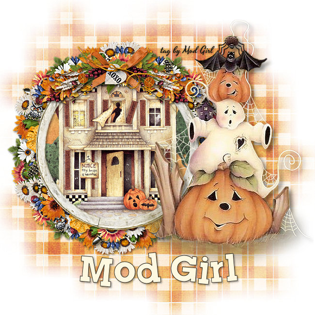 Haunted House tag by Mod Girl